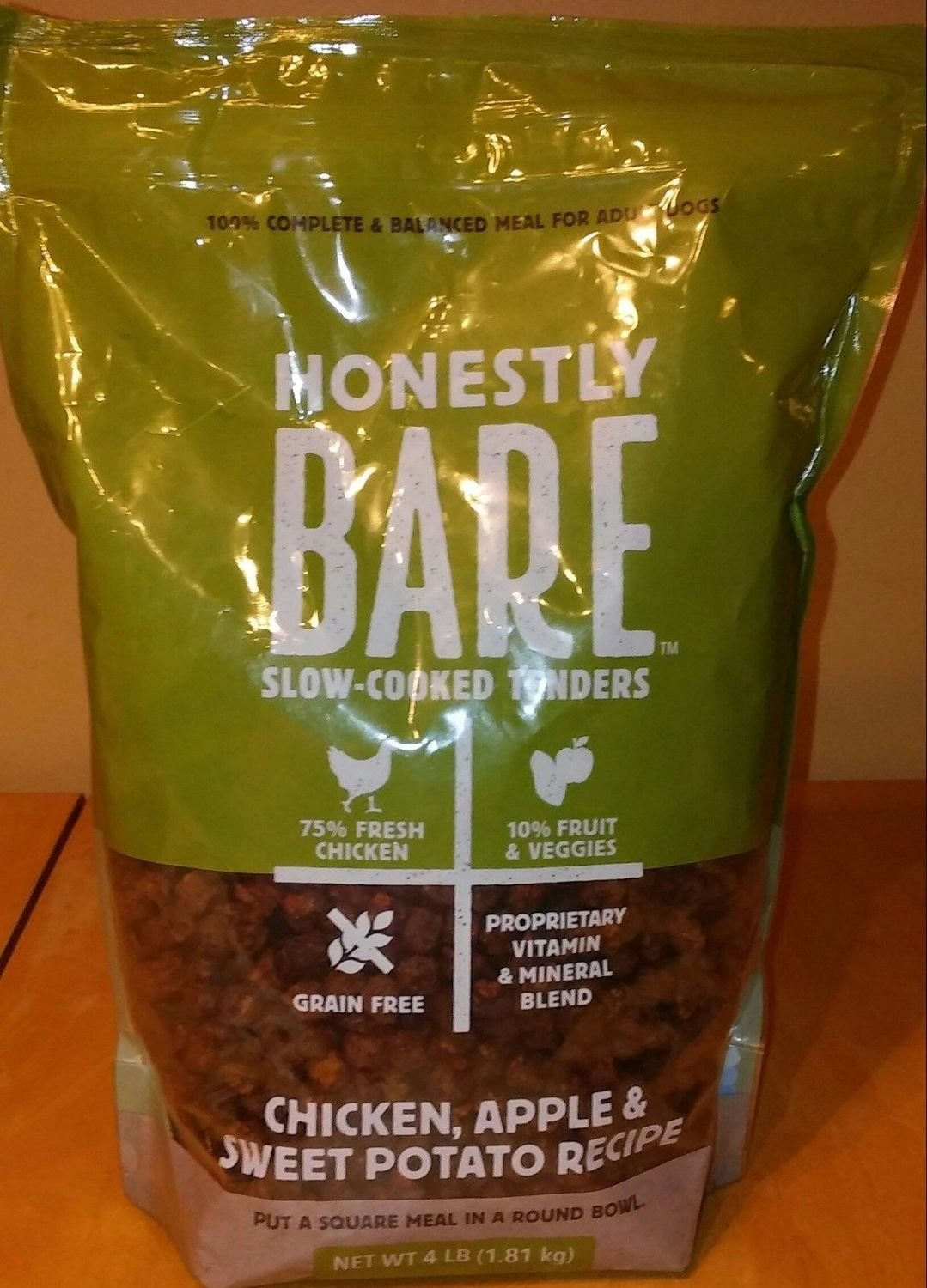 **SALE** Honestly Bare Grain Free Slow Cooked Tenders, 4lbs, Chicken, Apple & Sweet Potato (7/18) (A.M7) **SALE**