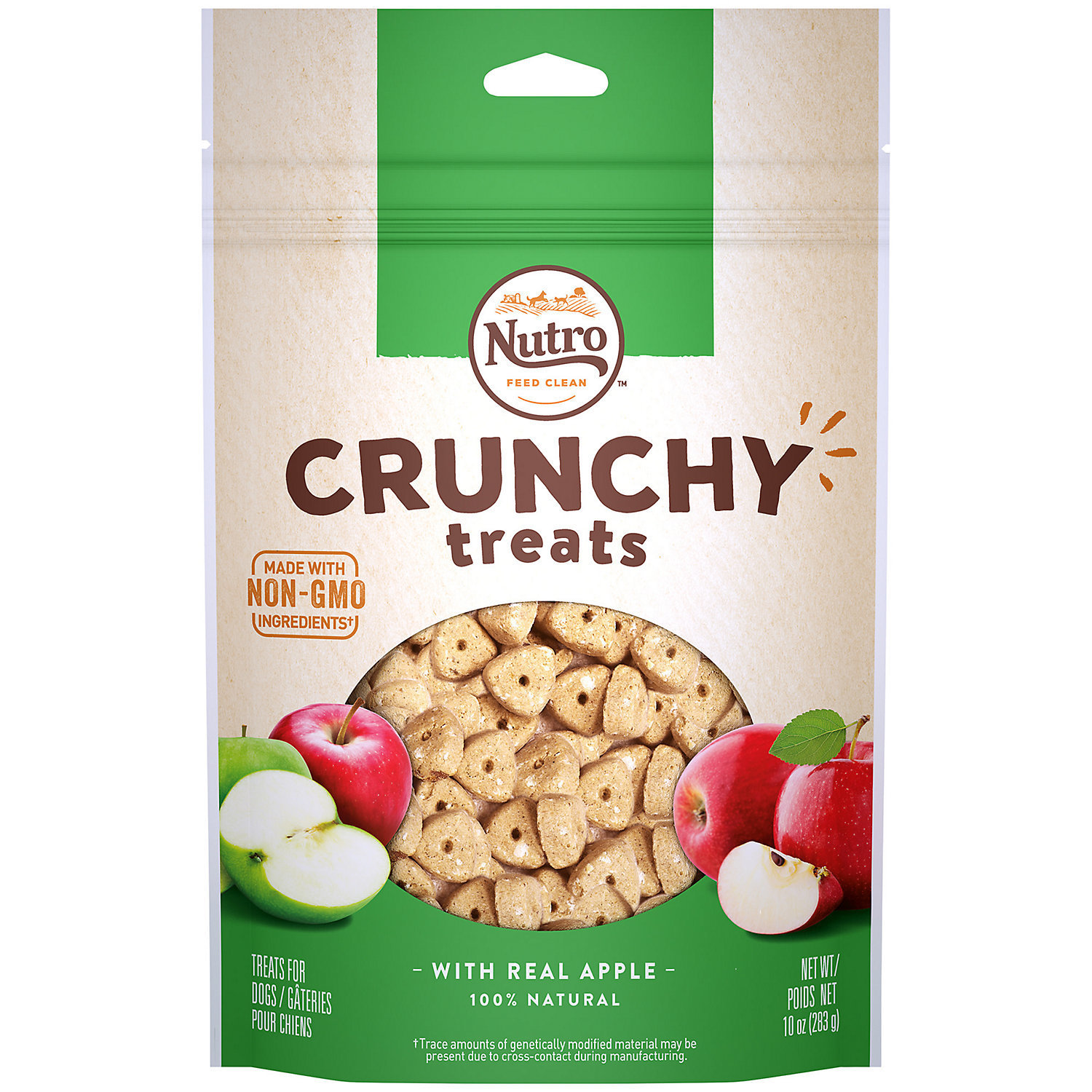 "Nutro Crunchy Dog Treats with Real Apple (10 oz.; .75"" Diameter) (11/18) (T.B10)"