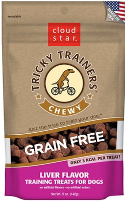 Cloudstar Grain Free Tricky Trainers Chewy Liver  5 oz. (5/18) (T.F2)