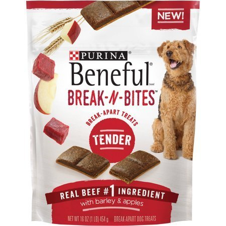 Purina Beneful Break-N-Bites Tender Real Beef with Barley & Apples Dog Treats 16 oz. (12/18) (T.A4)