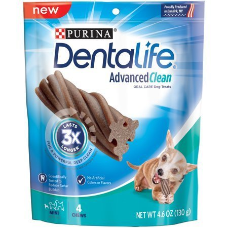 Purina DentaLife Advanced Clean Oral Care Mini Dog Treats 4 ct Pouch (11/18) (T.A3)
