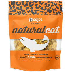 Sojos  NaturalCat Wild-Caught Salmon Freeze-Dried Cat Treats, 1 oz (11/18) (T.B3)
