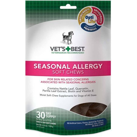 Vet's Best Seasonal Allergy Dog Soft Chews, 30-Count (1/19) (T.F2)