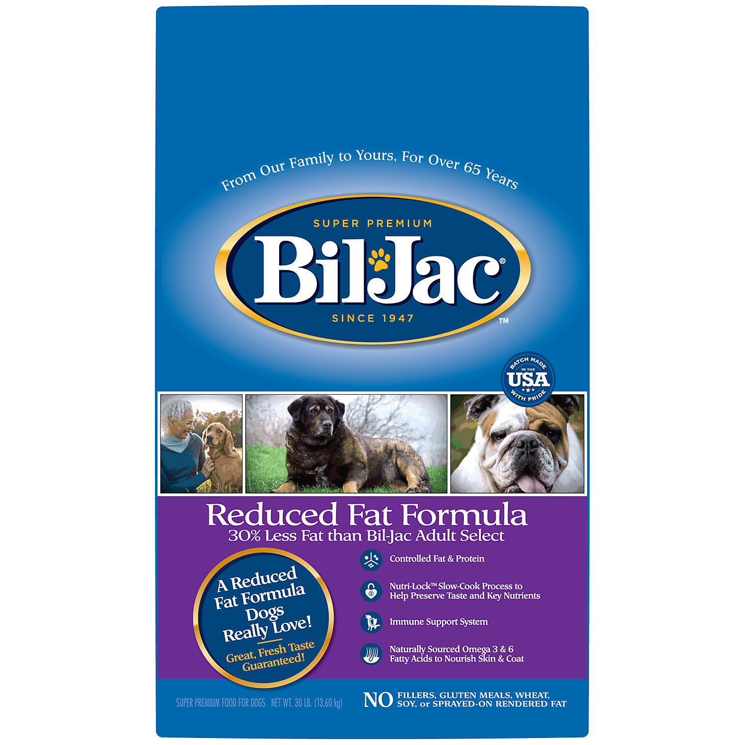 Bil-Jac Reduced Fat Adult Dry Dog Food, 6 lbs. (06/19) (A.E4)