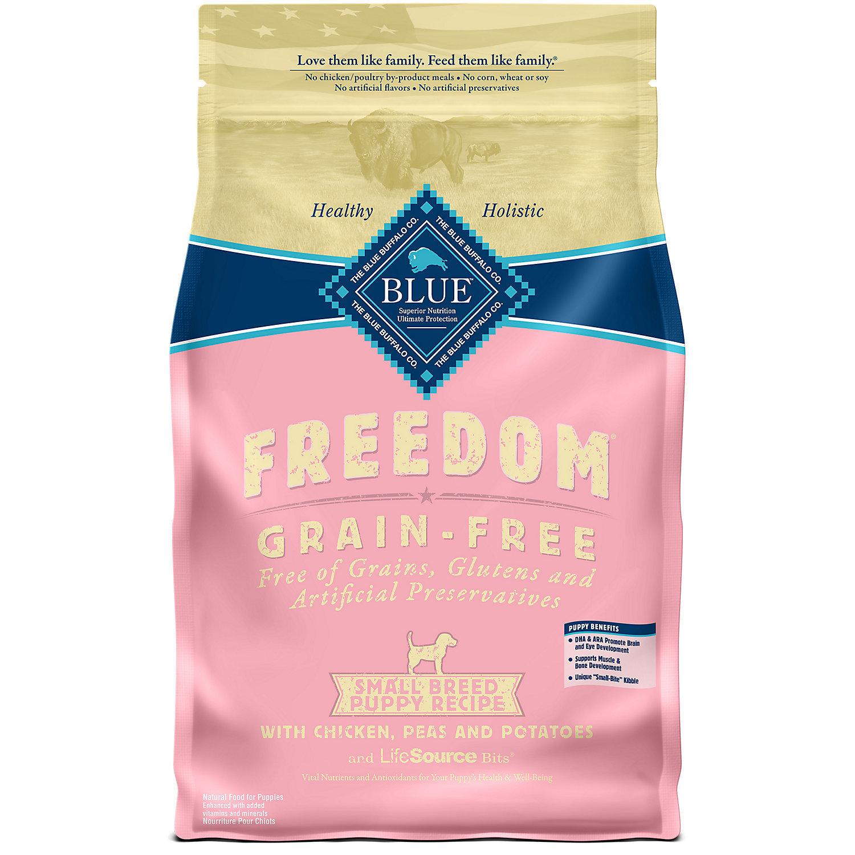Blue Buffalo Freedom Grain Free Chicken Recipe Small Breed Puppy Food, 11 lbs. (7/18) (A.L4)