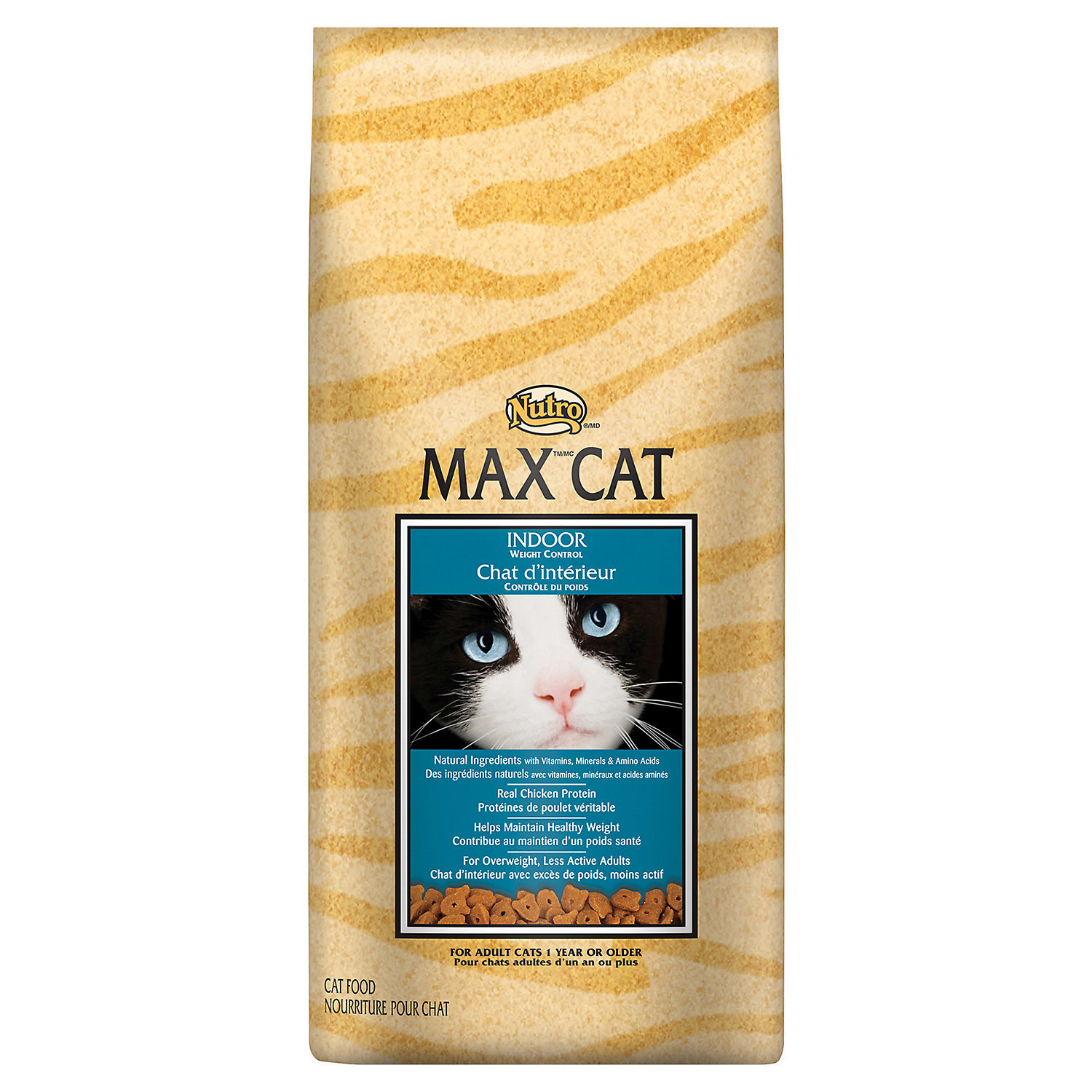 Nutro MAX CAT Indoor Weight Control Adult Chicken Cat Food (6 lbs.) (1/19) (A.F4)