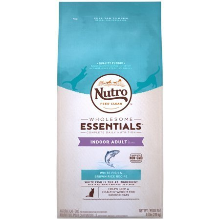 Nutro Natural Choice Whitefish & Whole Brown Rice Indoor Adult Cat Food, 6.5 lbs (1/19) (A.N1)
