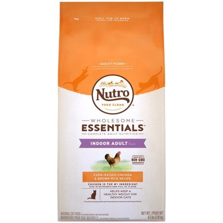 Nutro Wholesome Farm-Raised Chicken & Brown Rice Recipe Dry Cat Food - 6.5lb (1/19) (A.M5)