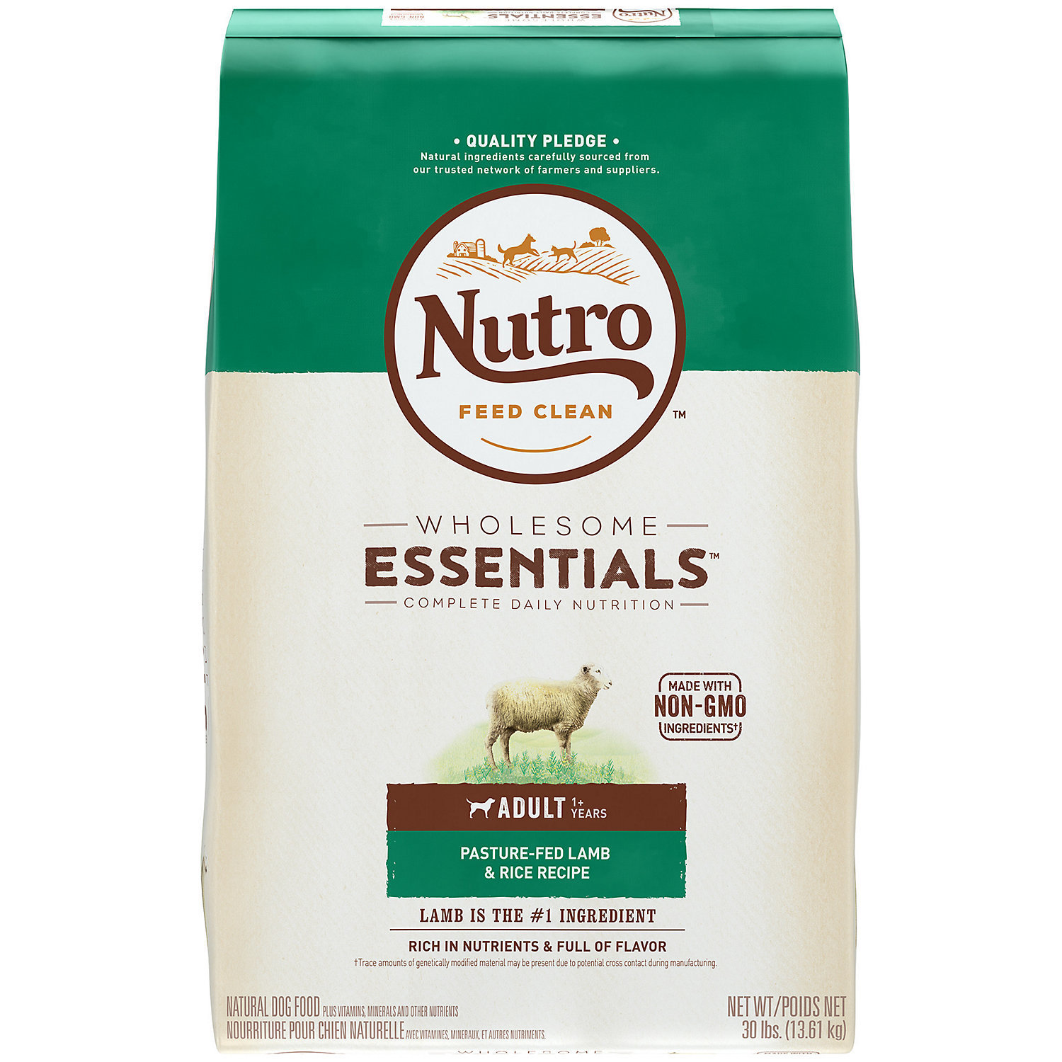 Nutro Natural Choice Limited Ingredient Diet Lamb & Rice Adult Dog Food, 30 lbs.  (1/19) (A.M2)