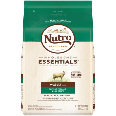 Nutro Natural Choice Limited Ingredient Diet Lamb & Rice Adult Dog Food, 5 lbs. (1/19) (A.K1)
