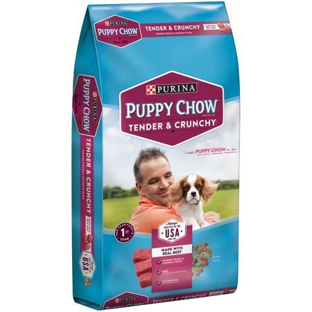 Puppy Chow Healthy Morsels with Soft and Crunchy Bites Puppy Food, 32 lbs (10/18) (A.M8)