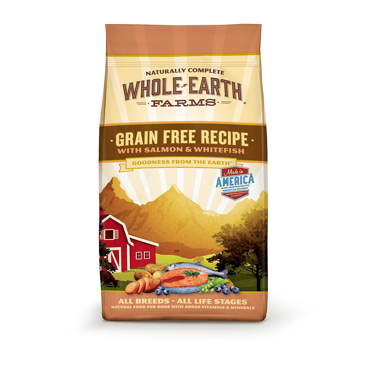 Whole Earth Farms Grain Free Salmon & Whitefish Dog Food, 12 lbs. (1/19) (A.P5)