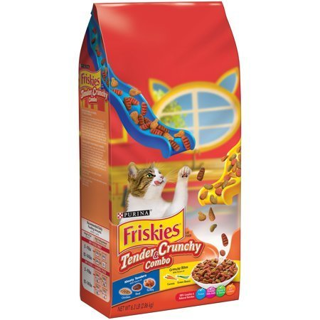 Friskies Dry Grillers Tender and Crunchy Cat Food, 6.3 lbs (12/18) (A.I2)