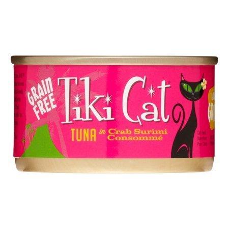 Tiki Cat Lanai Luau Tuna & Crab Surimi Canned Cat Food, 2.8 Oz 12 count (12/19) (A.K4)