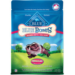 Blue Buffalo Regular Blue Bones Natural Dog Dental Chews, 12 oz. (10/18) (T.A13)