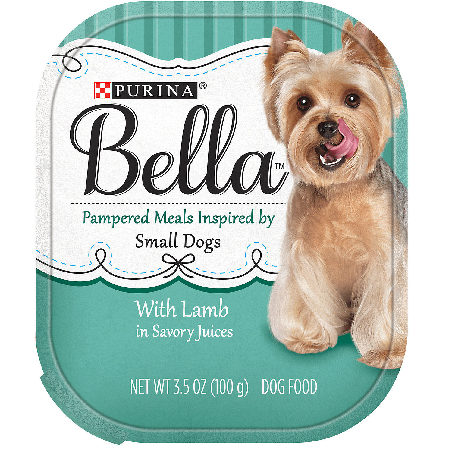 Purina Bella With Beef & Smoked Bacon in Savory Juices Adult Wet Dog Food, 12 x 3.5 oz (12/19) (A.N3)