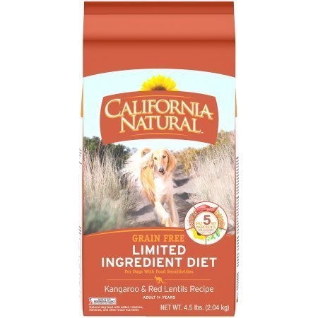 California Natural LID Grain-Free Kangaroo & Red Lentils Formula Dry Dog Food, 4.5 lbs. (8/18) (A.M1)