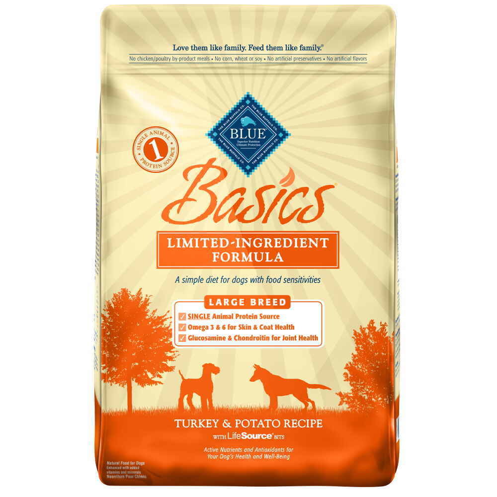Blue Buffalo Basics Large Breed Adult Turkey & Potato Recipe 24 lb. (10/18) (A.O2)