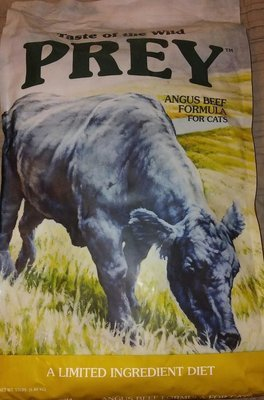 Taste Of The Wild Prey, Angus Beef For Cats, 15 lb Bag (10/18) (A.N2)
