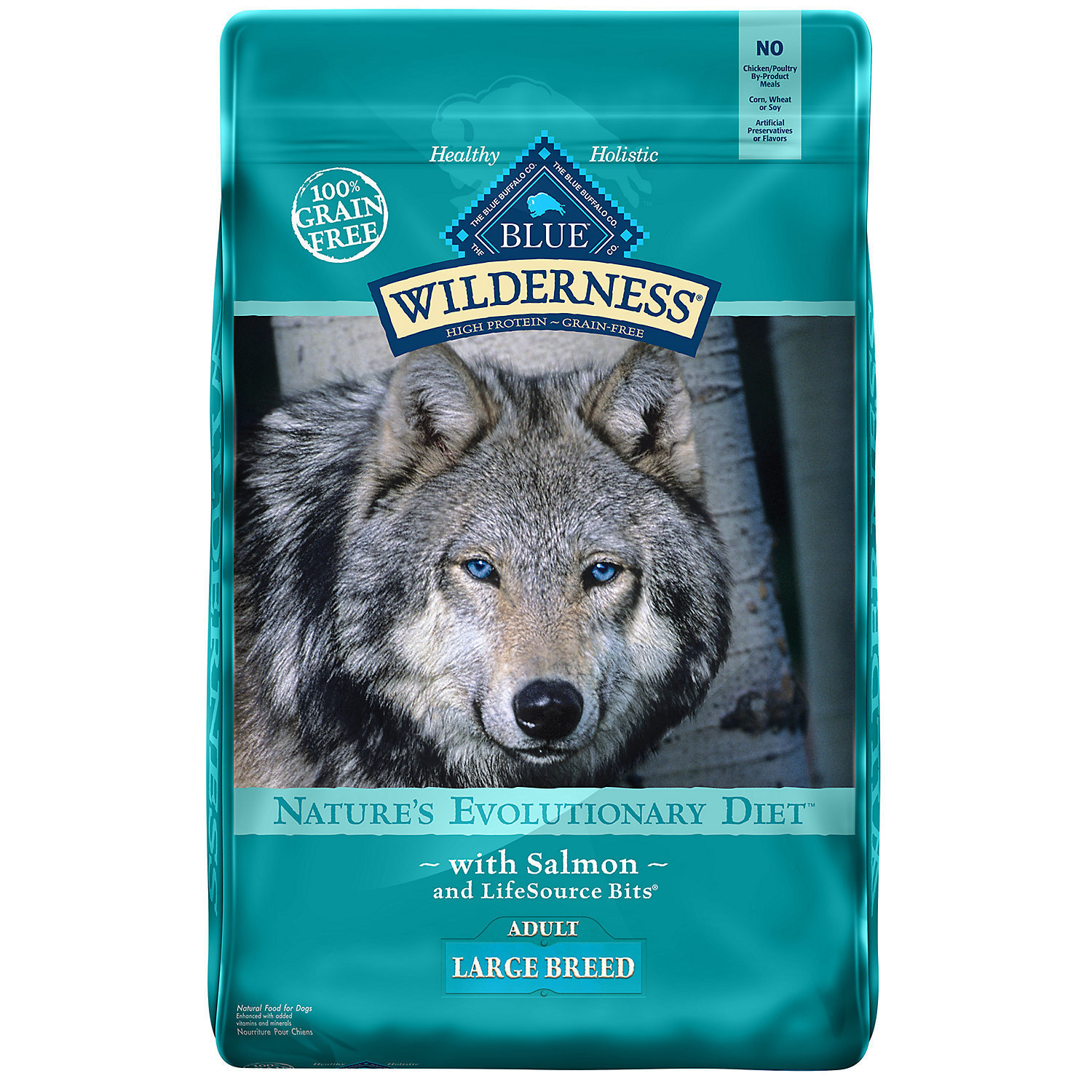 Blue Buffalo Large Breed Wilderness Salmon Adult Dry Dog Food, 24 lbs.