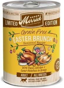 Merrick Classic Easter Brunch GRAIN FREE Wet Dog Food - Pack Of 12 - 12.7 Oz . (11/18)