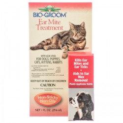 Bio Groom Ear Mite Treatment with Aloe Vera: 1 oz (O.B1)