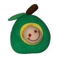 Green Apple Toy With Brown Worm