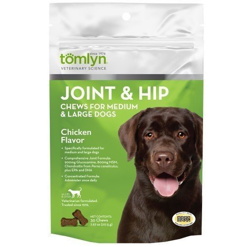 Tomyln Hip N Joint Chews Medium To Large Dogs