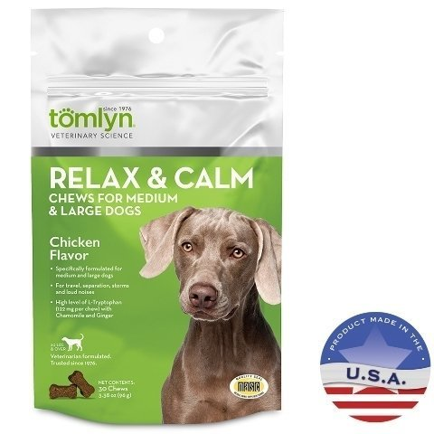 Tomyln Relax N Calm Chews Medium To Large Dogs
