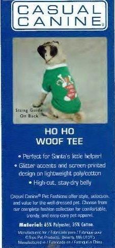 Ho Ho Woof Tee - Large (B.73) (APPAREL)