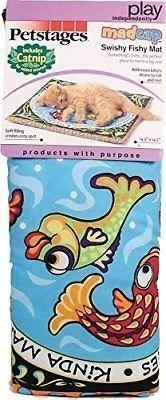 """Petstages Swishy Fishy Cat Mat, 14.5"""" L X 6"""" W X 2"""" H (B.A22)"""