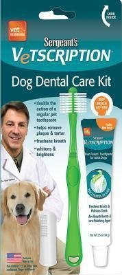 **SALE** Sergeants Vetscription Dog Dental Care Kit (1/18) (O.A2/PR)