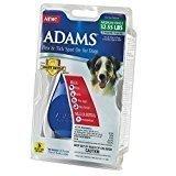 Adams Flea & Tick Control Flea and Tick Spot-On for Medium Dogs 32 -55# 3 Months Reusable (O.H1)