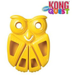 KONG Quest Critter Owl Dog Toy Large (RPAL-B8) **Color May Vary**