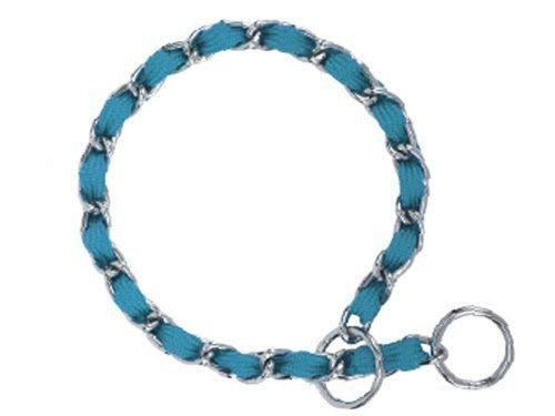 "Nylon Webbing Fashion Choke Chain 14"" X 2.5mm Turquoise (RPAL137/AM3)"