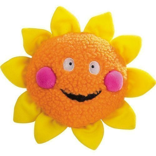 Zanies Berber Celestial Smiles Dog Toy, 8-Inch, Sun, Orange/Yellow (RPAL154)