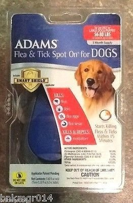 Adams Flea & Tick Control Flea and Tick Spot-On for Large Dogs 56 - 80# 3 Months Reusable Applicator