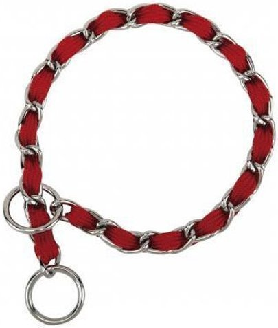"Nylon Webbing Fashion Choke Chain 16"" X 2.5mm Red (RPAL137)"