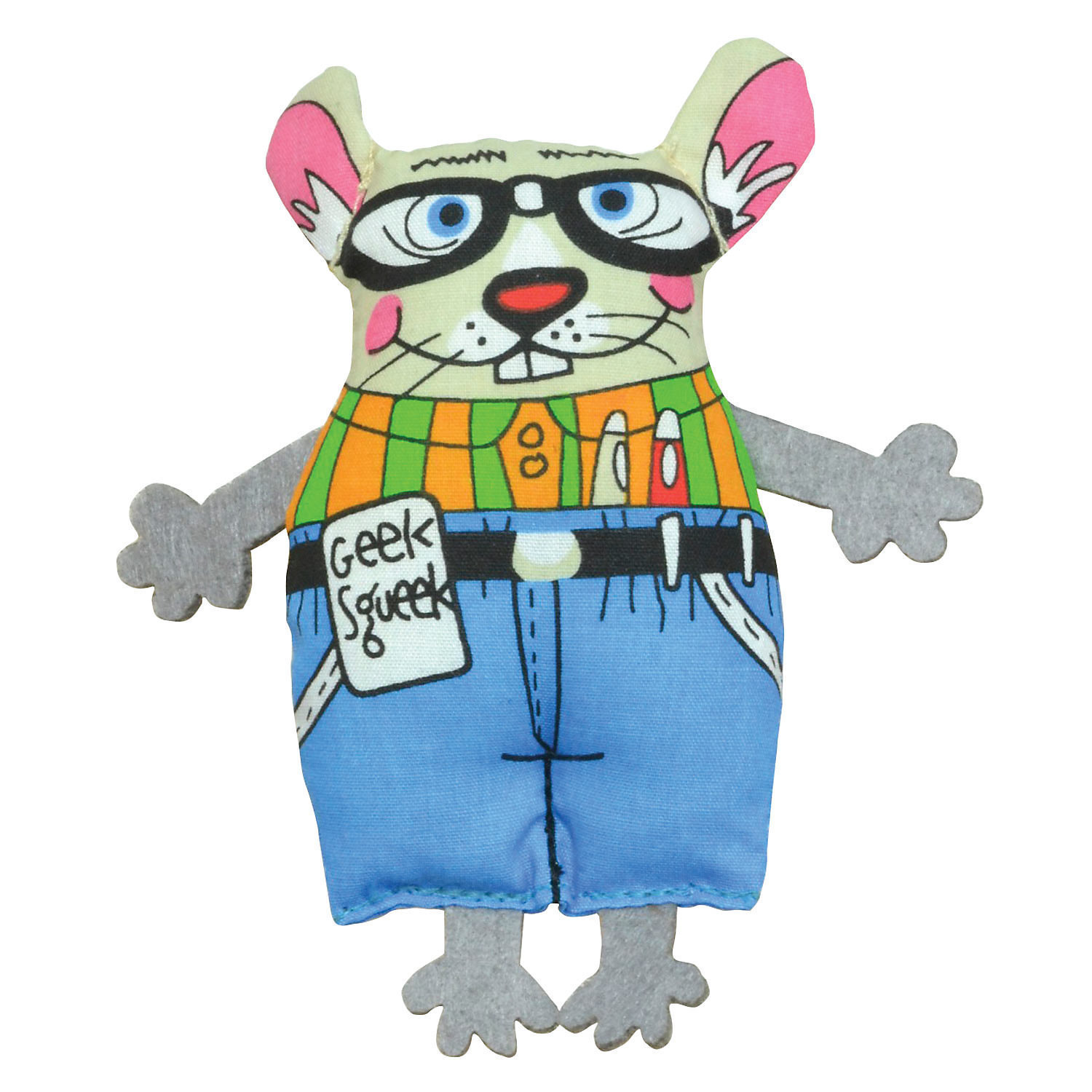 "Petstages Geeky Squeek Mouse Cat Toy, 6.5"" L X 3.5"" W X 0.5"" H  (B.A12)"