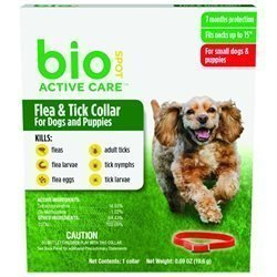 Bio Care Flea & Tick Collar 7 Months Protection For Small Dogs & Puppies Fits Neck Up To 15