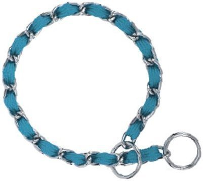 "Nylon Webbing Fashion Choke Chain 24"" X 3mm Turquoise (RPAL137/AM7)"
