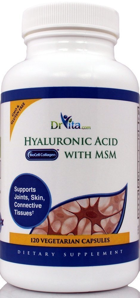 "Hyaluronic Acid with BioCell Collage & Opti MSM ""Joint Support"" 120 Count"