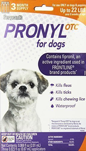 Pronyl Up To 22 lbs Dog Flea Treatment 3 Pack **May Ship Out of Box** (O.F1/PR)