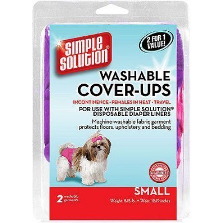 "AMAZON ONLY - Simple Solutions Washable Cover-ups 2 Count Large 18-27"" Waist 35-55 Lb"