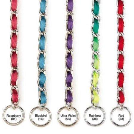 """Nylon Webbing Fashion Choke Chain 18"""" X 2.5mm Rainbow (RPAL137)"""
