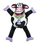 Petstages Madcap Cow Patty Canvas & Plush Dog Toy, 12
