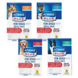 Adams Plus Flea And Tick Control For Dogs 3 Month Refill Pack 31 - 60#  (No Applicator) **May Ship Out of Box** (O.I1)