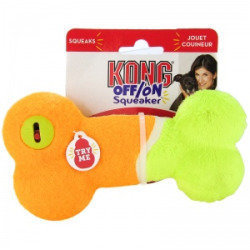 Kong Off/On Squeaker - Bone: Medium - Squeaky Dog Toys (RPAL-B8/TOY)