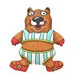 "Petstages Madcap Bathing Beaver Squeaker Dog Toy, 5"" (B.A17)"