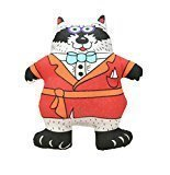 "Petstages Madcap Well Dressed Raccoon Squeaker Toy 5"" (B.A17)"